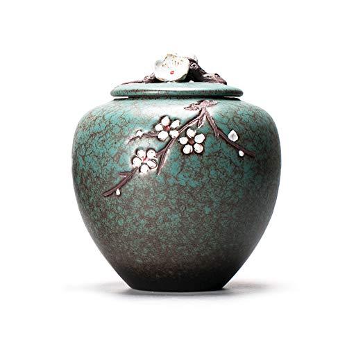 VVAP Feuerbestattung Urnen für Haustiere Memorial Andenken-Box für Hunde und Katzen, Keramik handgefertigt, Seal Moisture Proof, hält kleine Portion Asche,L -