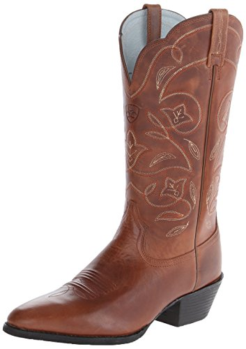 Ariat Women's Women's Heritage Western R Toe Boot, russet rebel, 7 C US - Rebel Cowboy-stiefel