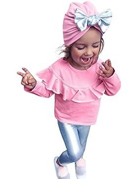 Amlaiworld Baby warm Prinzessin langarmshirt Mädchen mode hosen niedlich pullis sets,0-4Jahren