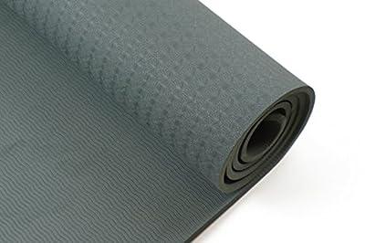 Yogamatte, SGS geprüft, umweltfreundliche TPE Yogamatte, 8mm dick, Pilatesmatte, Gymnastikmatte inkl. Tasche, hypoallergen, hautfreundlich und rutschfest (Dunkelgrün)