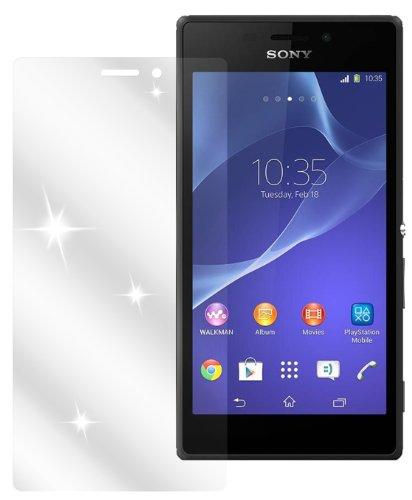 dipos I 2X Schutzfolie klar passend für Sony Xperia M2 Folie Bildschirmschutzfolie