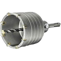 S&R Scie à Cloche Trépan Couronne Carotteuse à Sec Ø 68mm + Adaptateur SDS Plus 110 mm + Foret de Centrage 8x110mm