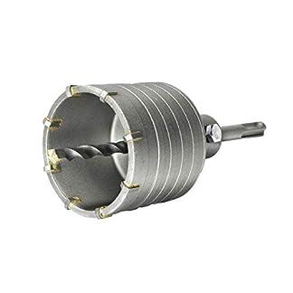 S & R hueca Juego de corona de perforación con adaptador SDS Plus 110mm y broca 8x 110mm