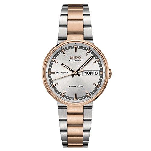 Mido Damen-Armbanduhr COMMANDER II Analog Automatik Edelstahl M014.230.22.031.00 Dame Commander
