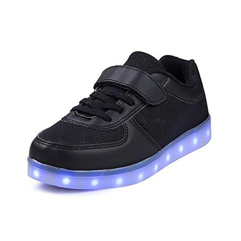 SAGUARO® Garçon Fille LED Chaussures 7 Couleu Enfants USB Charge