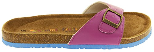 Coolers YF07061 Faux Cuir Sangle Boucle Sandales Mules Femmes Violet