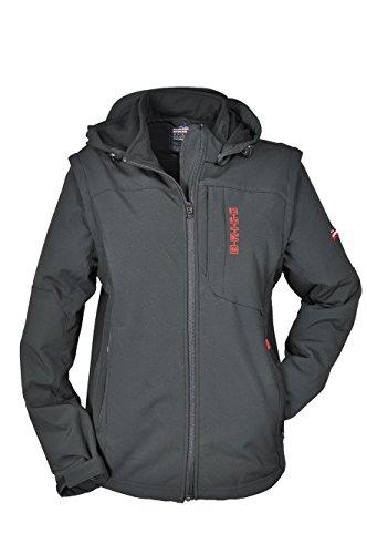 BRIGG veste softshell pour homme off'jacke'éclair plusieurs couleurs 10 776 024) Noir - Black/Red (513)