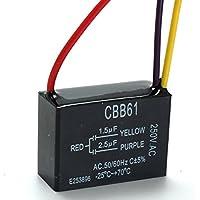 LaDicha Cbb61 1.5 Uf + 2,5 Uf 3 Alambre 250Vac Ventilador De Techo Condensador 3 Cables