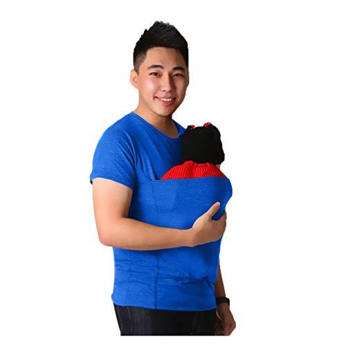 Ashui Einfarbiges Sommer-T-Shirt für Herren Kurzarm Casual T-Shirt Hemden Tops mit Kangaroo Pocket Rundhals T-Shirts Männer Papa T-Shirt Basic Tee O-Neck Slim Fit Hemden -