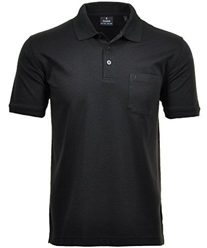 RAGMAN Herren RAGMAN Kurzarm Softknit Poloshirt XX-Large, Schwarz-009 Business Casual Hut