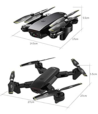 UEVOS New Drone Light Flow 4K Lens Double Camera Folding Cool Aerial Stunts SG700-D 2.4Ghz 4CH Wide-angle WiFi 4K HD Dual Camera Optical Flow RC Quadcopter