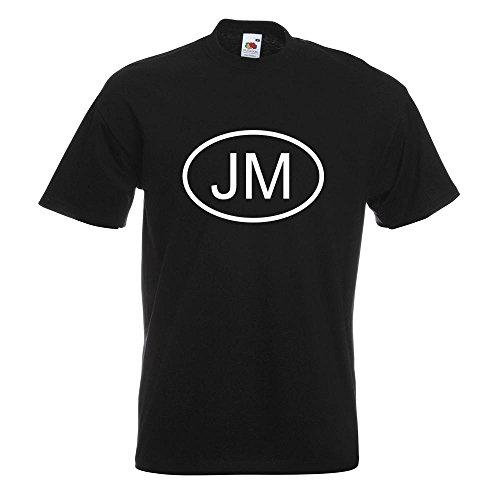 KIWISTAR - Jamaika JM T-Shirt in 15 verschiedenen Farben - Herren Funshirt bedruckt Design Sprüche Spruch Motive Oberteil Baumwolle Print Größe S M L XL XXL Schwarz