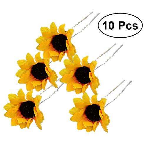 Frcolor Haarnadel schöne Sonnenblumen Haarschmuck 10PCS