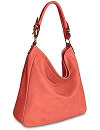 fda7c00ed7071 CASPAR Damen Tasche Handtasche   Umhänge Tasche Schultertasche - in vielen  Farben - TS910