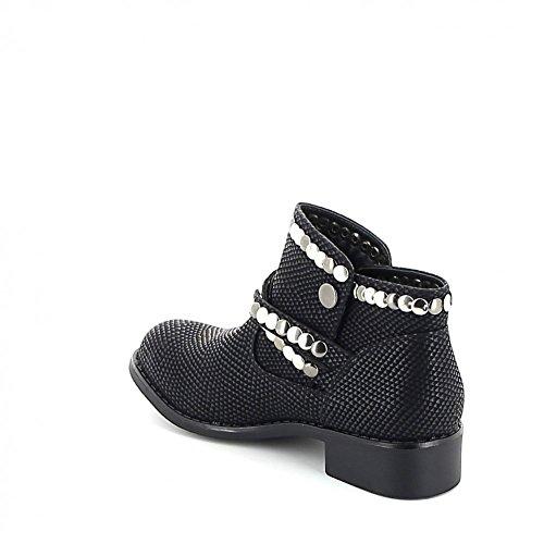 Low boots cloutée Noir