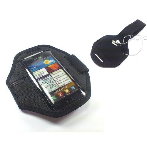 handy-point Armhalter Sportarmband für iPhone 6, 6S, Samsung Galaxy S3 Neo, S4, S5, S5 Neo, S5 Mini, A3 2016, Alpha, Ace 4, Grand Prime, Huawei Y330, P8, P8 Lite, HTC One Mini 2, Desire 300, 500, 320, 510, 610, Sony Xperia Z1 Compact, Z3 Compact, M2, SP, Z, M, T, S, Huawei Ascend G510, G525, LG Optimus L9 II, Nexus, L Fino, L65, G2 Mini, L70, Nokia Lumia Motorola, Halter für Arm Joggen, Sport, Armtasche, Armband, Halterung für Smartphone, 13cm x 6,5cm Fach für Schlüssel Kopfhörer Schwarz