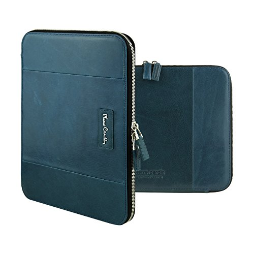 pierre-cardin-genuine-leather-wallet-card-cover-tablet-zipper-bag-case-for-apple-ipad-air-2-lake-blu