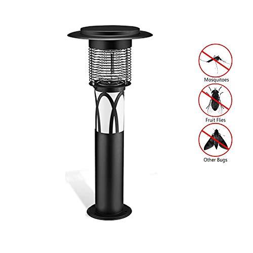 YD-outdoor Solar Moskito Killer Lampe, Moskito Lockmittel Falle, Fliegen Insektenfalle UV-Licht, tragbare stehende Hochspannungsnetz Beseitigen Sie Fliegenschädlinge - Stahl Outdoor-lampe