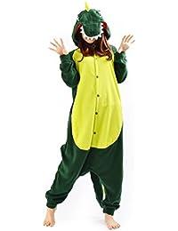 YARBAR Kigurumi Pijamas Unisexo Adulto Traje Disfraz de Halloween Animal Pyjamas Dinosaurios