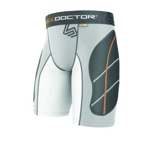 Preisvergleich Produktbild Shock Doctor Ultra Gepolsterte Schiebetür kurz 24–26grau