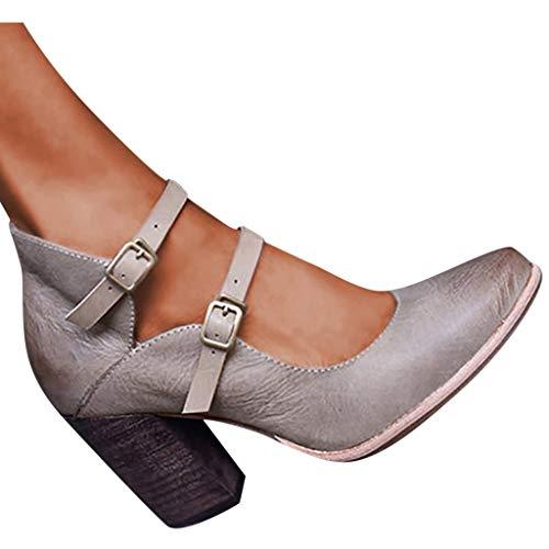 Dorical Zapatos Tacon Correa Tobillo Mujer Talón