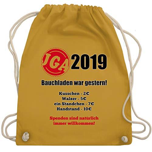 Eine Gruppe Kostüm Einfache Für - JGA Junggesellenabschied - Bauchladen war gestern! 2019 - Unisize - Senfgelb - WM110 - Turnbeutel & Gym Bag