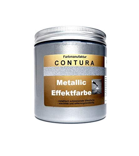 Contura Effektfarbe Altsilber 250ml Antik Silber Metallic Effekt Lack 35,80€/L Shabby Chic Farbe Schablone zum schablonieren Bastelfarbe