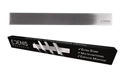 Edelstahl Messer Magnetleiste 40cm - elegant & extra stark! - Messerhalter Küchenmesser Werkzeug Magnetschiene Magnethalter Messerleiste Magnet magnetisch universal premium Design Messerblock (40cm, Edelstahl) (Küche Messer Magnetleiste)