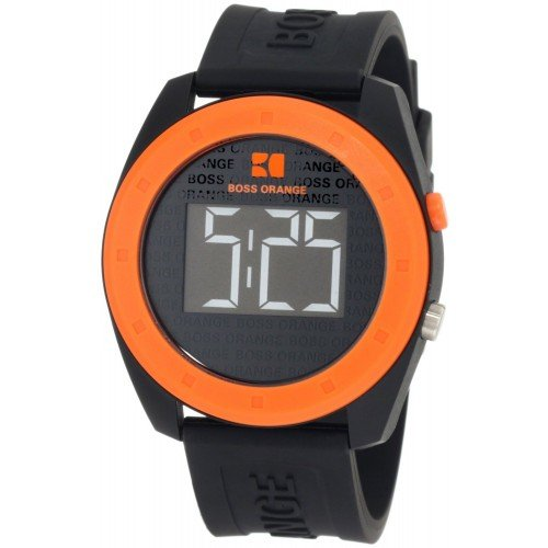 Hugo Boss Orange - 1512560 - Montre Mixte - Quartz Digitale - Bracelet Plastique Noir
