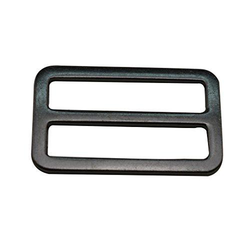 Amanaote Gun Schwarz 3,8x 1,9cm Innen Dimension Rechteck Schnalle mit festen Bar für Gurt 10Stück