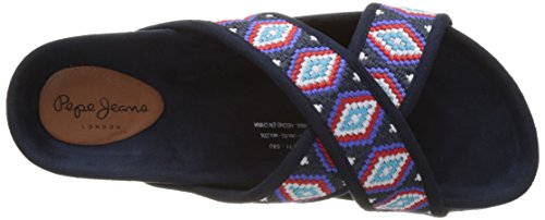 Pepe Jeans London Damen Rodeo Salted Sandalen Blau (Sailor)