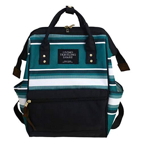 Moda Borsa, Zaino Borsa Studente Impermeabile Canvas School Backpack Semplice Ed Elegante Borsa a Zainetto Daypack per Universitaria Viaggio Shopping
