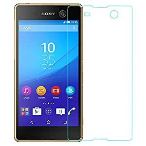 Royal Touch (R) Sony Xperia M5 - 9H Premium Tempered glass screen protector with free Installation Kit