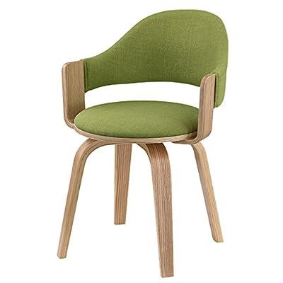 HJQ Drehstuhl aus Massivholz, Home-Frühstücksstuhl, Büro-Kaffee-Stuhl (Farbe optional) von HJQ auf Gartenmöbel von Du und Dein Garten
