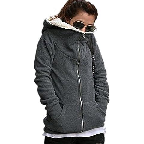 Minetom Sweatshirt Maniche Lunghe Casual Con Cappuccio Felpa - Donna