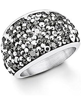 s.Oliver Damen-Ring Swarovski Elements Edelstahl
