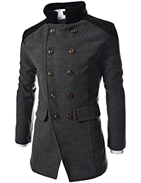 Culater Chaqueta de los Hombre Invierno Cálido Trench Abrigo Largo Moda Coat