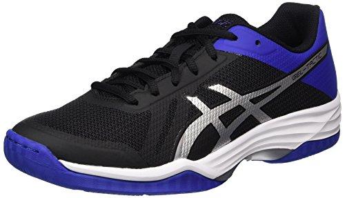 Asics Gel-Tactic, Zapatillas de Voleibol para Hombre, Negro (Black Blue/Silver), 42.5 EU