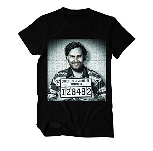 Pablo Escobar Mugshot T-Shirt Herren schwarz XXL
