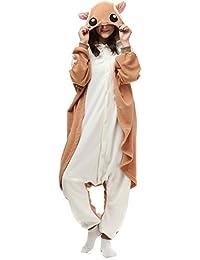 Unisex Animal Pijama Ropa de Dormir Cosplay Kigurumi Onesie Ardilla Voladora Disfraz para Adulto Entre 1