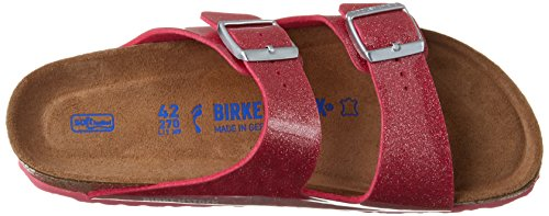 BIRKENSTOCK Damen Arizona Birko-Flor Softfootbed Pantoletten Pink (Magic Galaxy Bright Rose)