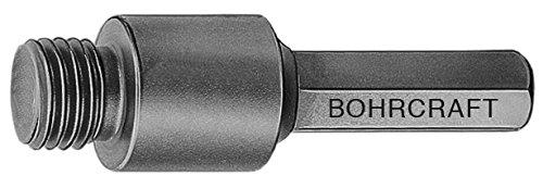 Bohrcraft 27020300001 BOC-27020300001 Adapter für Diamant-Fliesenbohrer mit M14 Anschluß, Sechskant SW 8,5 QuadroPack/AD-M14, 1 Stück, 1 V
