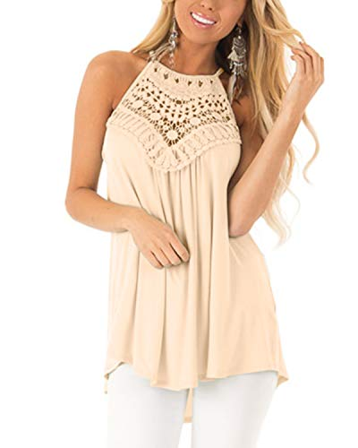 Damen Top Sommer Ärmellos Oberteile Crop Basic Schlinge T-Shirt Blusen Tops Basic Shirt ()