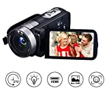 Videokamera Camcorder Full HD 1080p 24.0MP Webcam 16x Digitalzoom 3 Zoll Bildschirm HDMI-Ausgang mit Fernbedienung