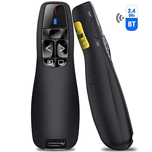 BEBONCOOL Presenter mit Bluetooth und USB-Verbindung, 2.4GHz Wireless Presenter Presentation Remote PowerPoint Fernbedienung Präsentation für PPT/Keynote/Prezi/OpenOffice/Windows/Mac OS/Linux/Android