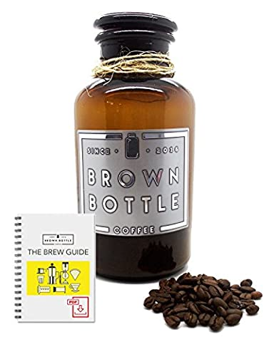 Coffee Storage Jar Container + FREE 150 Grams Of Coffee | Beautiful Glass Apothecary Style Coffee Storage Bottle To Keep Your Ground Coffee Beans Airtight & Fresh | Coffee Gift Box