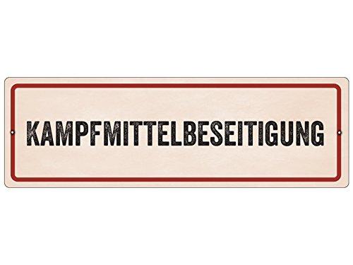 Interluxe Kunststoffschild mit Saugnapf KAMPFMITTELBESEITIGUNG Bundeswehr Autoschild
