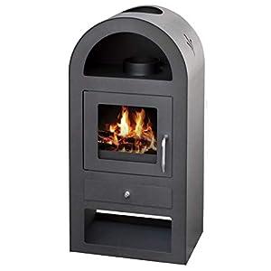V05 Estufa de leña para quemar leña (12 kW), diseño de arco de leña