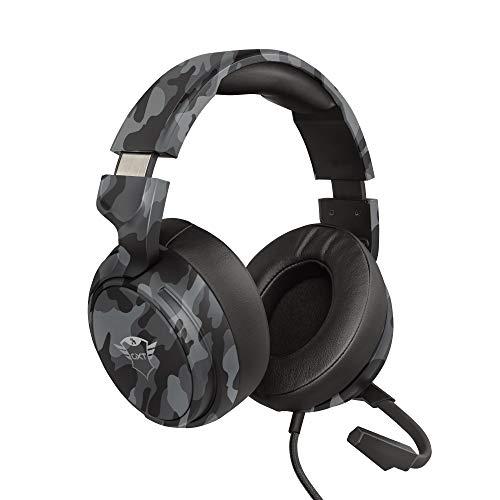 Oferta de Trust Cascos Gaming GXT 433K Pylo Auriculares Gamer con Micrófono Plegable, Altavoces Activos de 50 mm, Cable Trenzado, para PS4, PS5, PC, Nintendo Switch, Xbox One, Xbox Series X - Negro Camuflaje