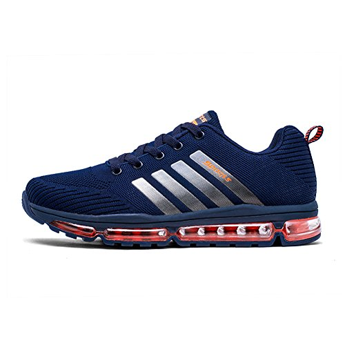 Fexkean Unisex Sportschuhe Laufschuhe Turnschuhe Atmungsaktiv Sneakers Air Sport Casual Shoes Herren Damen (8068Blue42)